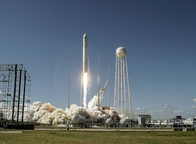 [Above: the Antares/Cygnus D1 launch on Sept. 18 from Wallops Island.]