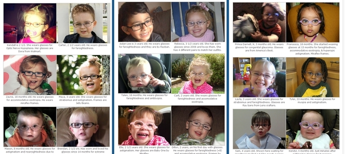 just a few of the beautiful bespectacled faces in the Little Four Eyes photo gallery