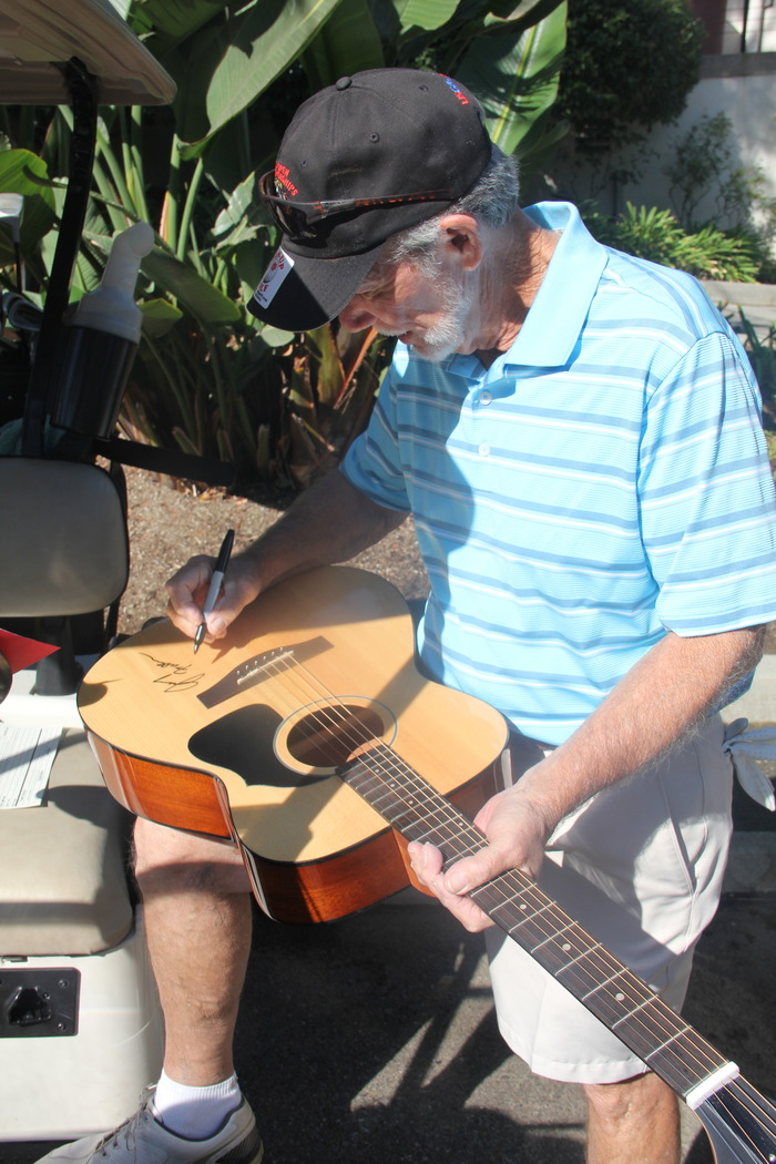 Voyage Guitar signed by Legendary Producer and Writer of Traveling Man and other hits of WC, Jerry Fuller