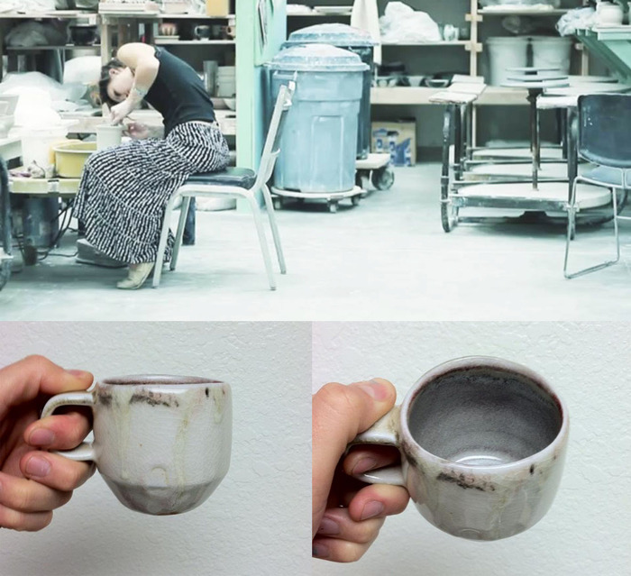 Beautifully hand-crafted ceramic mugs from Aimi ...holds roughly 12oz