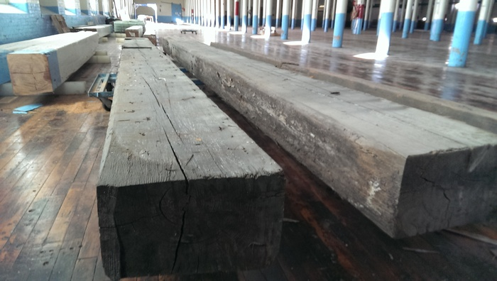 Centuries old wood that we will reclaim from the mill for the tasting room.