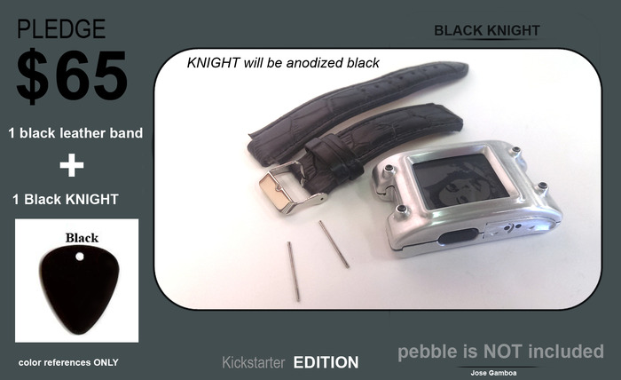 Black NIGHT + Leather wristband