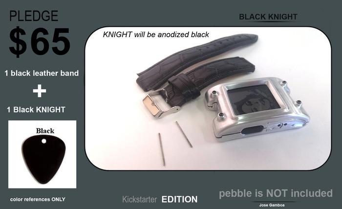 NOCHE Negro + pulsera de cuero