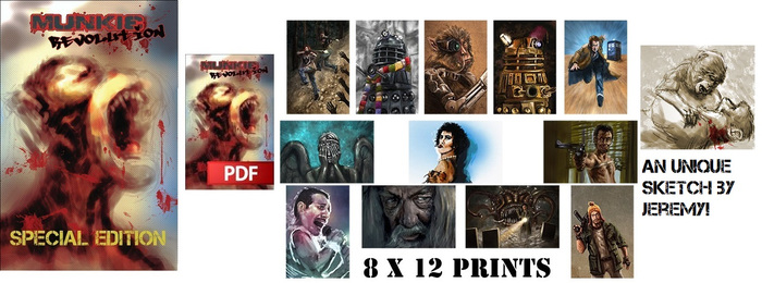 You get the special edition comic, PDF, choice of two photo-prints and a sketch by Jeremy!