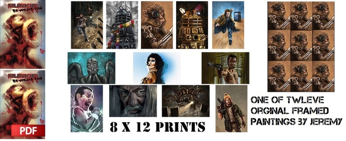 You get the physical book, PDF version, two photo-prints and one of twelve original paintings by Jeremy!