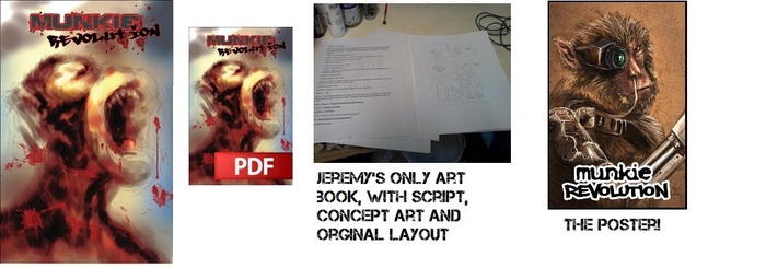 Physical comic, PDF version, a poster, and Jeremy's only art-book!