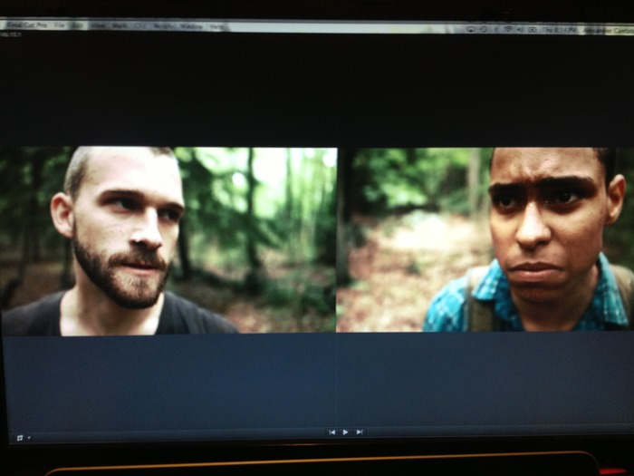 When actors Andrew Asper and Gio Naarendorp have a staring contest: we all win.