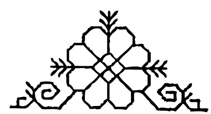 The traditional Latvian Sun pattern, which Aila has on her left shoulderblade.