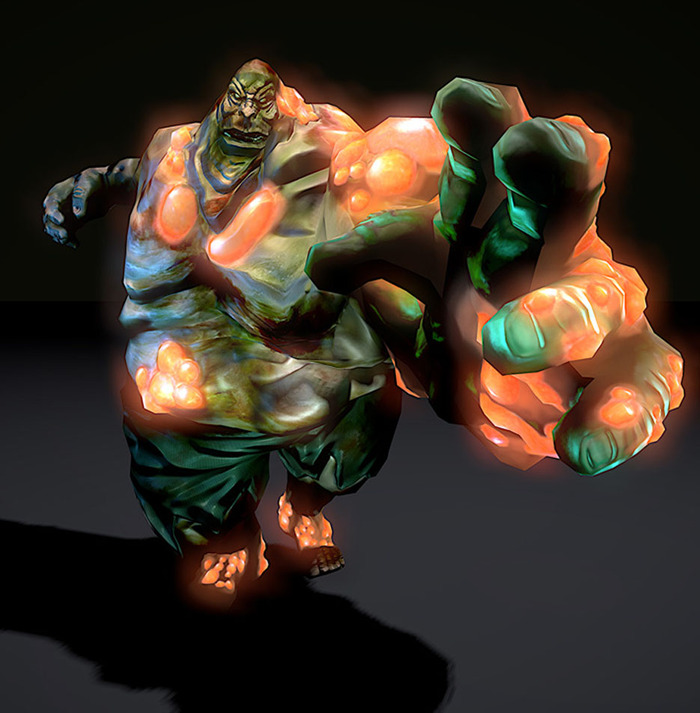 Bloater 3D Render - another zombie variant corrupted further by demonic energies