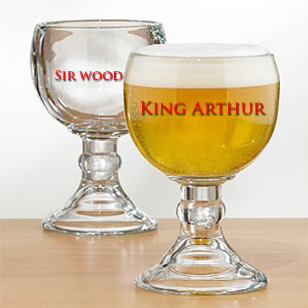 Knights of the Round Table 20oz monogrammed Chalice.