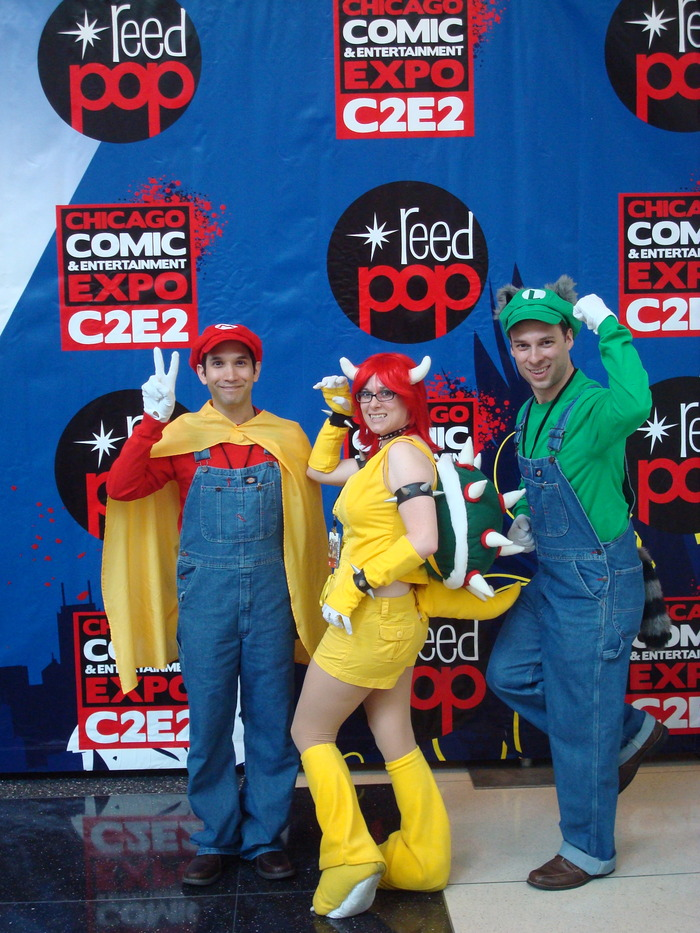 "Rachel as ""Bowser"" from Super Mario Bros."