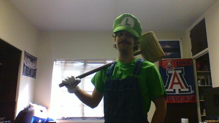 "Daniel as ""Luigi"" from Super Mario Bros."