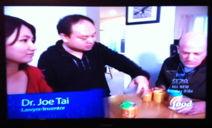 Joe and his wife, Cherie, on the Food Network