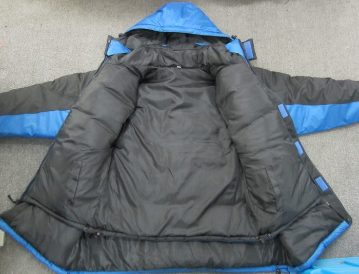 Inside of coat, with vest zipped in