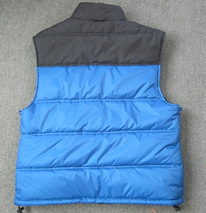 Back of vest, blue/black side