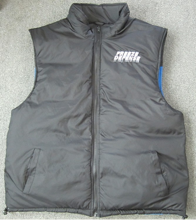 Black side of vest, it's reversible!