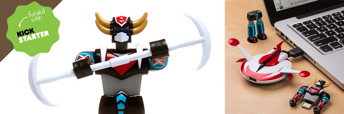 Successfully funded licensed Grendizer Flash Drive by Incubot