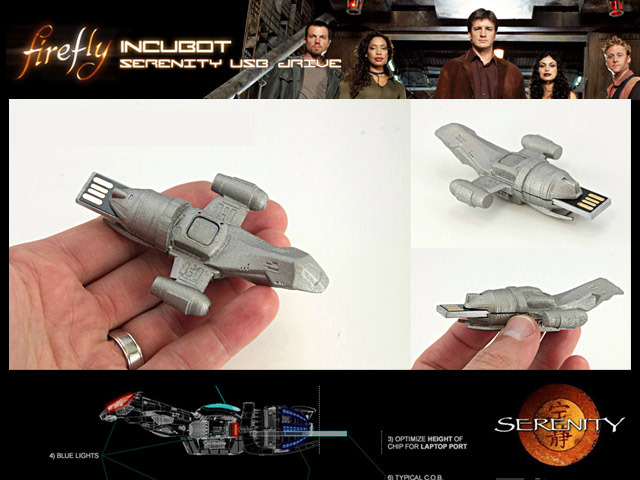 Kickstarter views. Unfinished proto Firefly Serenity