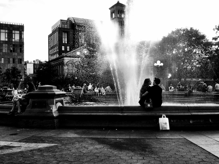 Young Love in Washington Square Park