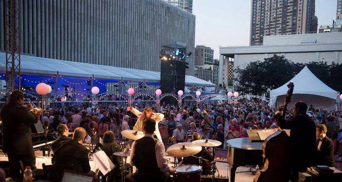 Packed house at Lincoln Center's Midsummer Night Swing - photo: Kevin Yatarola