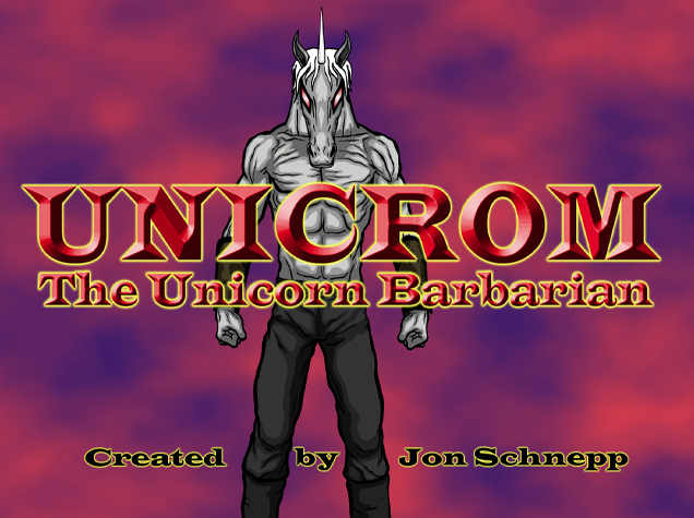 Unicrom the Unicorn Barbarian!