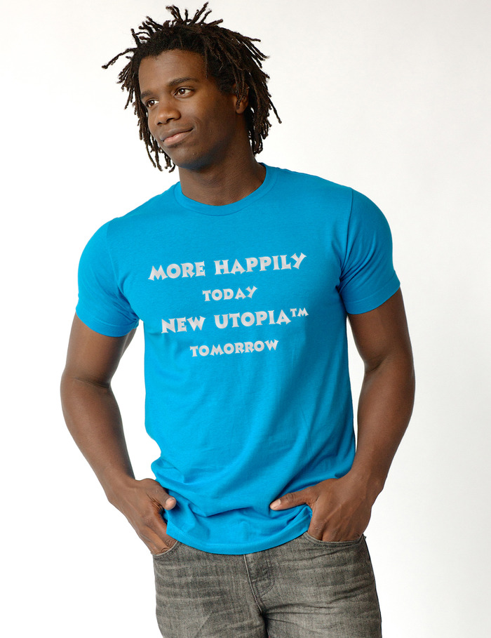 Happily Tee:  GET AS HOT AS THIS GUY, get this guy, OR just get this guy to lust after you. Something for everyone!