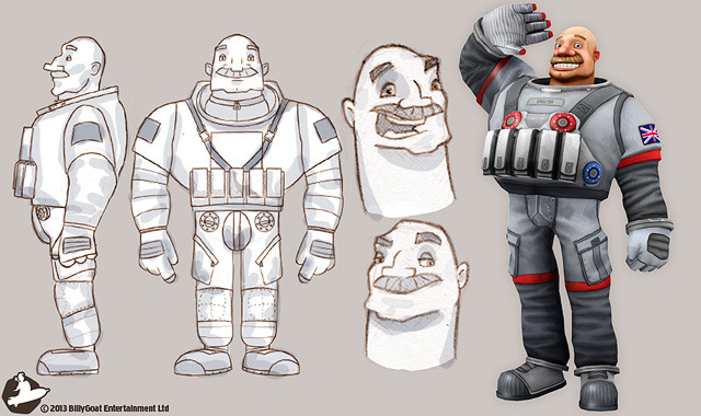 The development of one of our protagonists, Captain Frank Lee English, from sketch to fully animated, in-game model