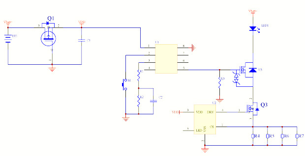 the LED driver schematic