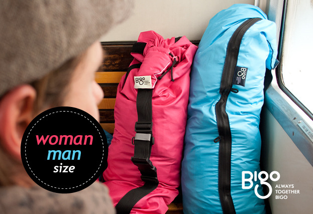 The Bigo Bag Five comes in men's and women's sizes.