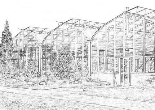 Drawing of the National Training Center Greenhouse