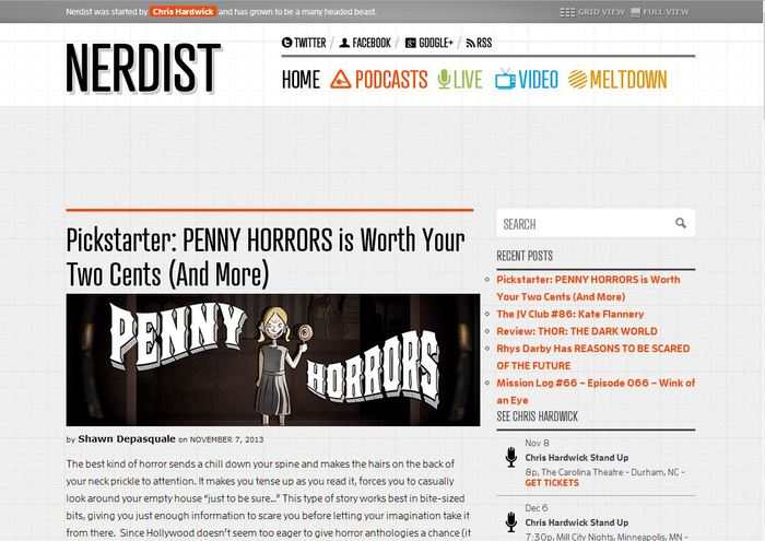 Pickstarter: PENNY HORRORS is Worth Your Two Cents (And More)