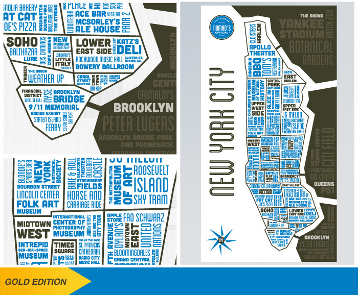 Scratch off the gold foil layer to reveal a white and blue map.  *The gold foil layer is not depicted in this image.