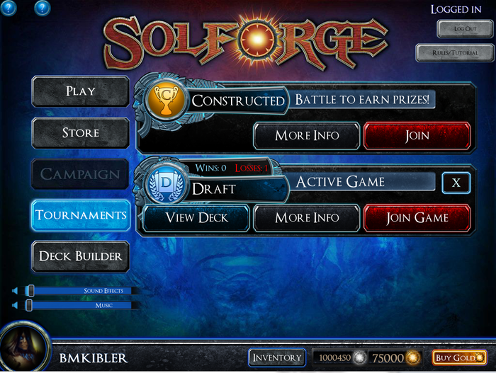 Matchmaking solforge