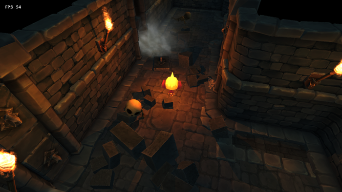 Corridors now contain rubble and dead skeletons, requiring a bit of skill to manouveur around them as you flee from impending enemies. It's the details that count...
