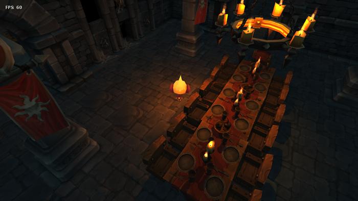 A high-caste banquet hall