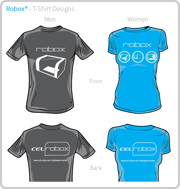Robox Kickstarter T-Shirt Design