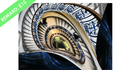 "'The Psychotropic Stairwell'  signed Digital Print ( 7"" x 5"", mounted) by Liz Sergeant"