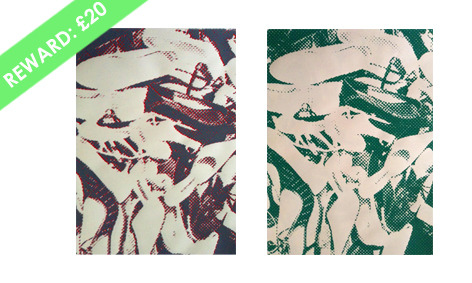 'Dancing Shoes 3 & 4' Choose one of these five, signed Silkscreen prints on paper (41cm x 59cm) by Anya Charikov-Mickleburgh