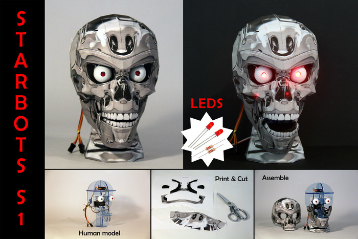 LED Kit with Chrome Skull (Human StarBot Model)