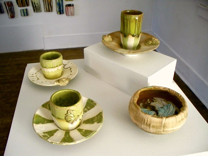 'afternoon tea break', installation view, Hunterdon Museum of Art exhibition - 2009