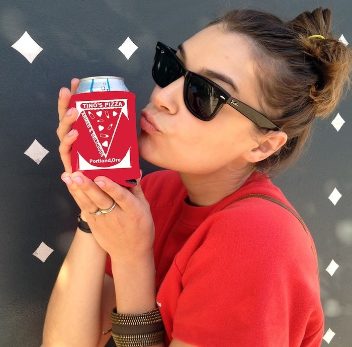 KOOZIES! (mock-up) Colors may vary. - - Cute girl not included.