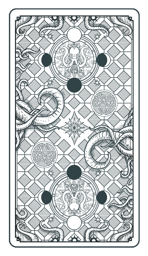 Tarot Card Back - The Sephirot of the Mythos