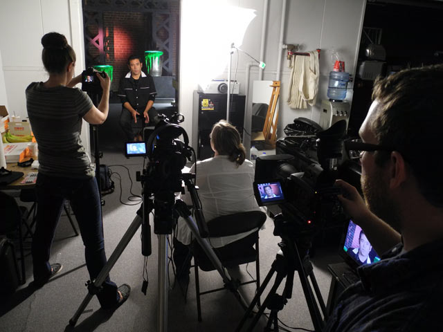 Our film crew interviewing Jeff Zapata, GPK Art Director (2003-2011) / GPK Artist