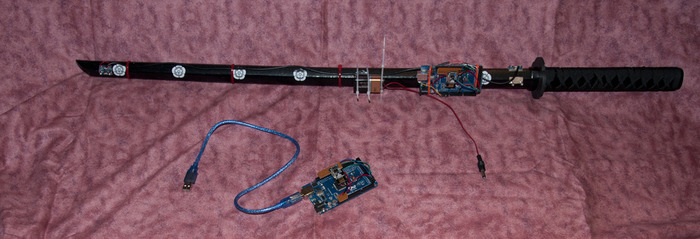 Digital Katana Prototype 2 with receiver