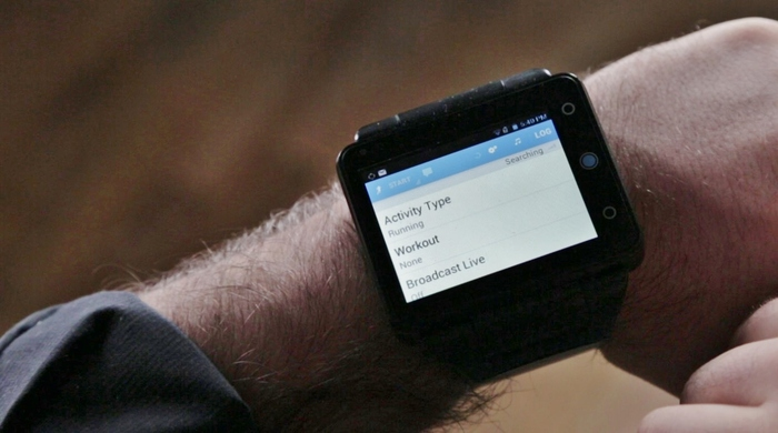 Various fitness apps like RunKeeper (shown here) are fully supported on the Pine smartwatch.