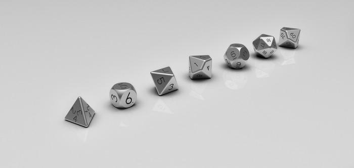 Polyhedral Dice Set