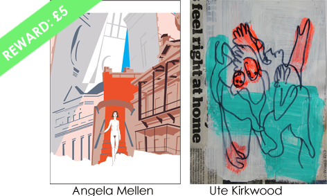 An A6 signed postcard - choose from one of three designs by Angela Mellen, Ute Kirkwood and Alison Griffin/Dina Varpahovsky
