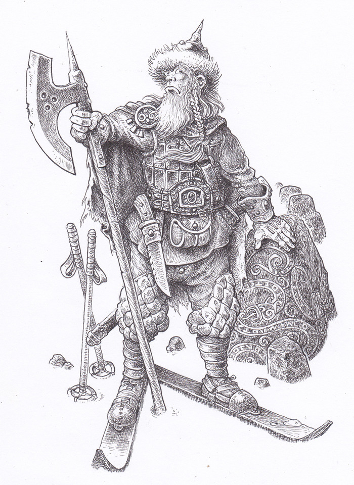 Hutzlun Warrior by Gary Chalk