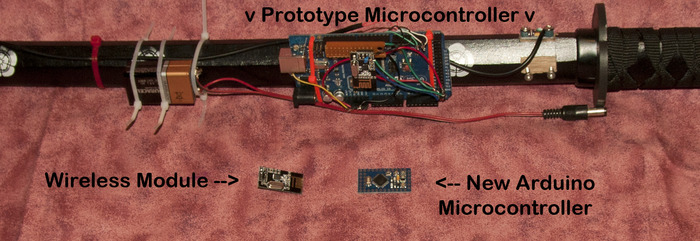 Close up of Arduino Microcontrollers