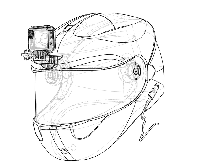 Concept drawing of the Neptune Helmet Mount.